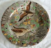 French Gien Service Rambouillet Dinner Plate Woodcock Hunting