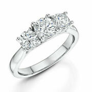 Christmas Gift 1.00 Ct Real Diamond Wedding Ring Solid 950 Platinum Ring Size 7