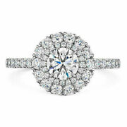 14k White Gold Ring 1.00 Ct Round Cut Real Diamond Engagement Rings Size 6 7 8 9