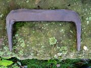 Antique 19thc Blacksmith-made Boot Scraper Forged Wrought Iron Primitive