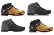 Menand039s Euro Sprint Leather Hiker Boots Wheat Black Gray A1nhj