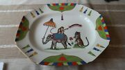Lynn Chase Tiger Raj 14 X 12 Serving Tray Platter Excellent Condition