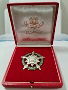 Syria Syrie Order Of Devotion 1953 Huguenin Locle Silver With Original Box