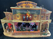 Lemax Spooky Town Shooting Range Lighted Animated Halloween Village 2011