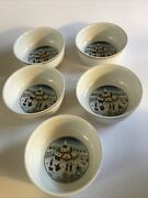 Villeroy And Boch Naif Laplau Christmas Cereal Soup Bowl 5.25 1748 Set Of Five