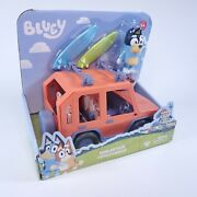Bluey, 4wd Family Vehicle, W/1 Figure Customizable Car Adventure Time Ages 3+