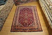 Genuine Antique 3and039 X 5and039 Sarouk Design Lilihan Authentic Early 1900 Handmade Rug