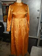 Aretha Franklin Owned And Worn Gold 1960's Gown Nightclub Promoter Mickey Deans