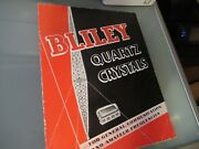 Vintage Brochure Bliley Electric Quartz Crystal Frequency Control 1937 As Pictur