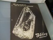 Vintage Brochure Bliley Electric Quartz Crystal Frequency Control 36 As Picture