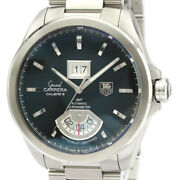 Polished Tag Heuer Grand Carrera Gmt Steel Automatic Mens Watch Wav5111 Bf521524