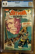 Dc Comics Batman 234 1971 Cgc 9.2 Wp 1st Silver Age Two-face Neal Adams Cover