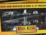 ✅mth Railking Baltimore And Ohio Auto Carrier And Maryland State Police Cars Bando