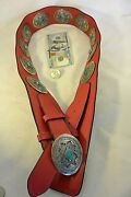 19+ozt Navajo Mabel Kee 17 Fox Turquouse Concho Belt Sterling Silver 34.5-37.5