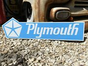 Antique Vintage Old Style Plymouth Dealer Sign