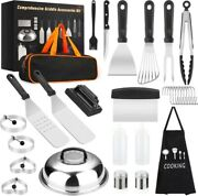 Grill Tools Set Barbecue Accessories Craftsman Stainless Steel Griddle Bbq Case