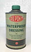 Vintage Dupont Waterproof Dressing Oil Tin Can Hunting Fishing Auto