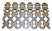 18 Sets 1991 1992 1993 Polaris 250 Trail Boss 2x4 Front And Rear Brake Pads