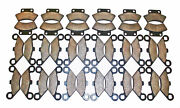 18 Sets 1988 1989 1990 Polaris 250 Trail Boss 2x4 Front And Rear Brake Pads