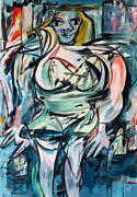 Willem De Kooning / Authentic Acrylic On Paper Signed. Expressionism Abstract