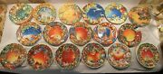 Lot Of 17 Gien Seasonandrsquos Greeting Christmas Collector Plates 1995-2011 Excellent
