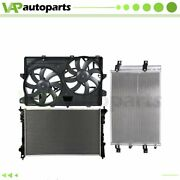 Engine Cooling Fan And Radiator Condenser For Ford Edge Lincoln Mkx