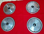 Vintage 1972-1979 Lincoln Continental Mark Iv V Hubcaps Wheel Covers Set Of 4