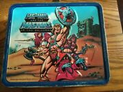 Vtg 1984 He-man/masters Of The Universe Alladin Metal Lunchbox With Thermos