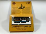 Ho Scale Bachmann San Francisco Cable Car Blue And Brown With Box