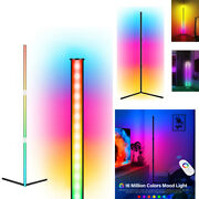 Color Changing Rgb Lamps Led Corner Floor Lamps Living Room Lighting With Remote