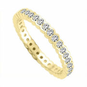2.00ct Round Cut Real Diamond Engagement Ring 14k Yellow Gold Ringssize L M N