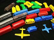 Vintage Late 1940s Boys Plastic Toy Race Cars, Planes, And Trains 32 Great Pieces