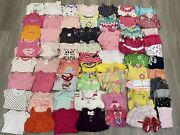 Huge Lot Of Baby Girl Clothes Size 3-6 Months. Total 65 Pieces.
