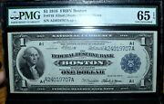 1918 1 Federal Reserve Bank Note ✪ Pmg Gem 65-epq ✪ Fr 710 Boston A1 ◢trusted◣