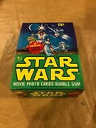 1977 Topps Star Wars Series 4 Box W/ 36 Sealed Wax Packs Out Of A Case