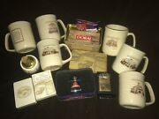 Doral Lot Zippo Table Lighter Coffee Mugs Cup Set Sealed Match Box Tin Can Cards