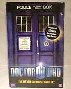 Eleven Doctors Figure Set Hand Signed Autograph 5th 6th 7th 8th 10th 11th Dr Who