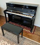 Kohler And Campbell Kc-112 44 Upright Piano With Matching Bench Shinning Ebony