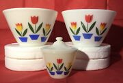 Fire King Oven Ware Tulips