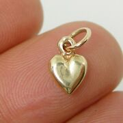Small Solid Love Heart Charm Pendant Genuine 375 9k 9ct Yellow Gold C2450