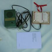 Mr Christmas Holiday Lights And Sounds Tree Ornament Song Book Electric Box