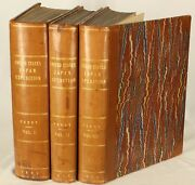 1856 Set 3 Leather Commodore Perry Japan China Expedition Color Plates Shanghai
