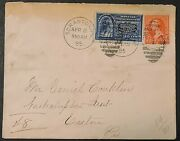 Us Scott 251 Type Ii And E4 Line Under Ten Cents Cover From Scranton-easton Pa