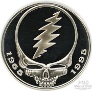 2000 Grateful Dead 1965-1995 1 Oz Silver Round Steal Your Face Limited Ed 22100