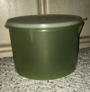 Newvintage Tupperware Round Econo Canistercelery Green W/sheer Seal14c266