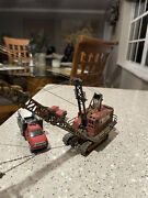 Dragline Diecast Model 1/87 Ho Scale Lima 2400-a Dragline With Support Vehicles.
