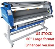 Usa 60and039and039 Full-auto Take Up Low Temp Large Format Hot Cold Roll Laminator Machine