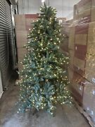 Open Box Balsam Hill Narrow Noble Fir 6.5and039 Tree With Candlelight Led Lights Xmas