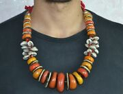 Moroccan Berber Tribal Amber Stone Necklace North African Jewelry Women Beads