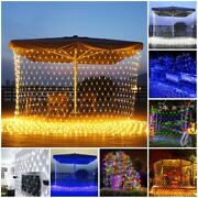 200 Led Fairy String Net Mesh Curtain Lights Waterproof Party Christmas Decor
